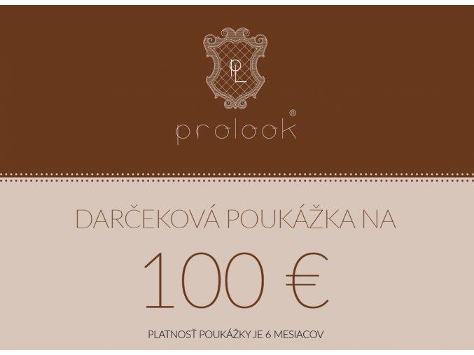 Darčeková poukážka na 100 €