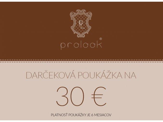 Darčeková poukážka na 30 €