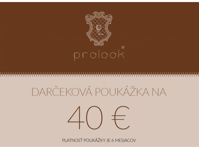 Darčeková poukážka na 40 €
