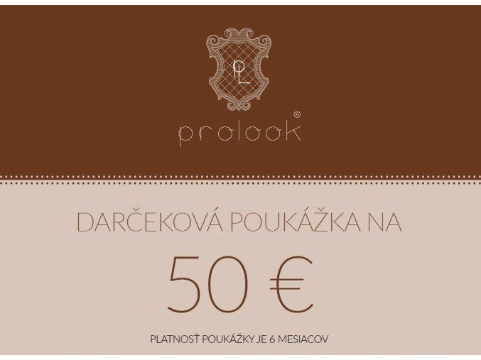 Darčeková poukážka na 50 €