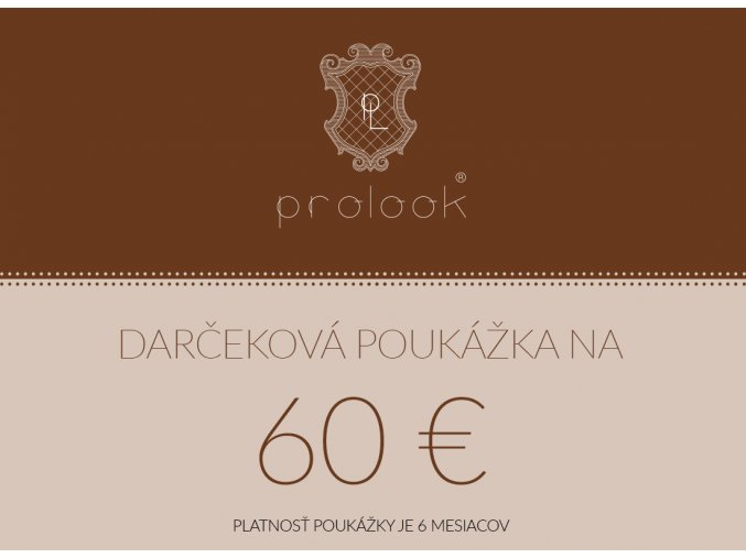 Darčeková poukážka na 60 €