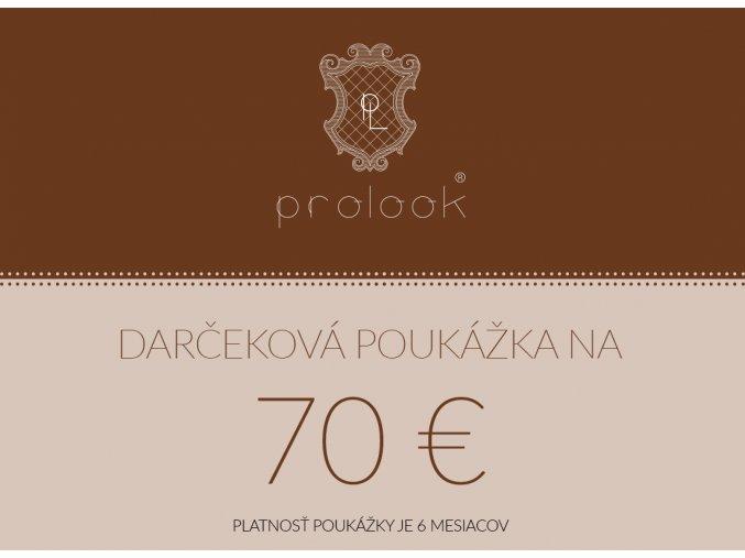Darčeková poukážka na 70 €