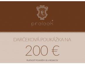 Darčeková poukážka na 200 €