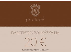 Darčeková poukážka na 20 €